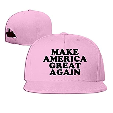 NUBIA Make America Great Again Outdoor Hip Hop Cap Adjustable Snapback Flexfit Flat Cap Pink (Attack In Titan Dvd)
