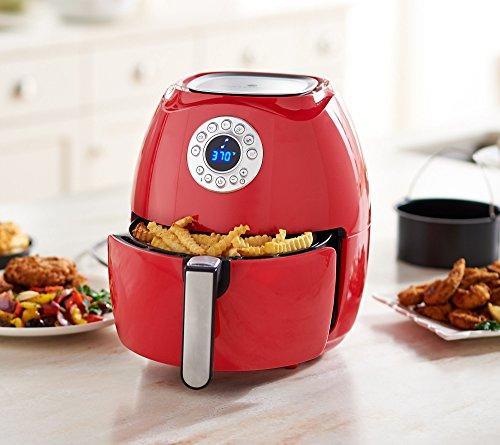 Cook's Essentials 3.4-qt Digital Air Fryer w/ Presets & Pans (Cinnamon)