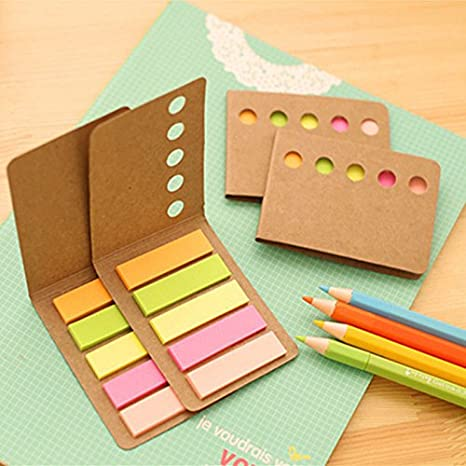 Planner Stationary Paper Kraft Memo Pad Stickers School Supplies Sticky Note