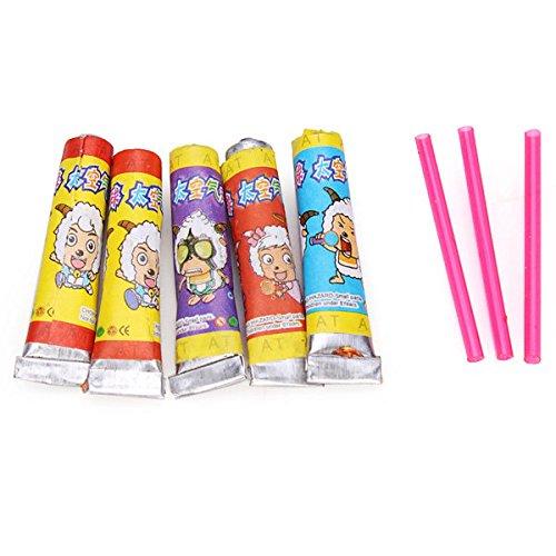 Pink Lizard 15PCS Bubble Gum Toy Blowing Glue Childhood Reminiscence Toys (Gum Hoods)