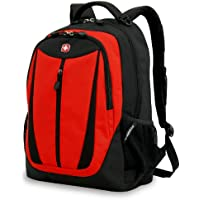 Swiss Gear SA3077 Lightweight Laptop Backpack (Black with Red)