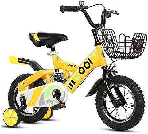 YSA 子供用自転車子供用自転車12/14 / 16/18/20インチ男の子と女の子のサイクリング、6-16歳の子供に適しています黄色、青、ピンク