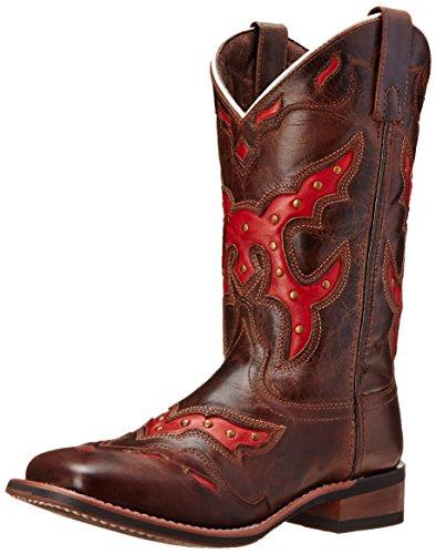 Laredo Women's Paprika Western Boot, Brown/Red, 9.5 M US