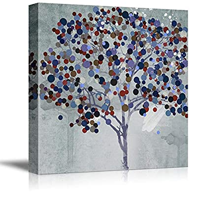 Delightful Picture, Happy Tree Painting Wall Bedroom Living House, Crafted to Perfection