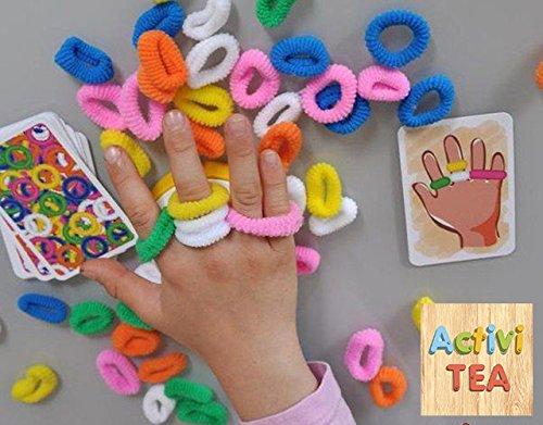 Juego de las gomas en las manos