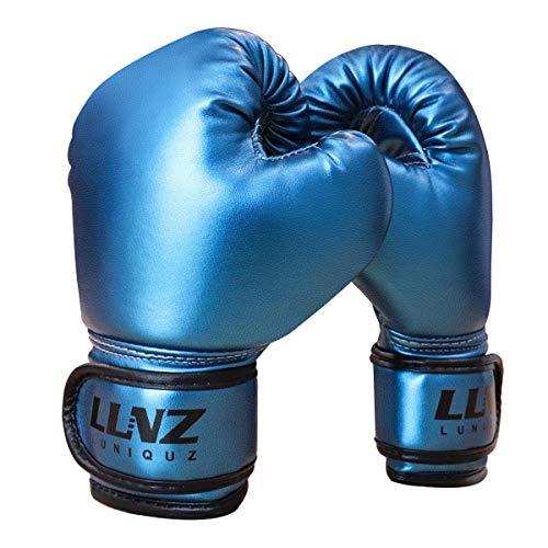 Luniquz Metallic Boxing Gloves for Kids Punching Bag, 4 OZ
