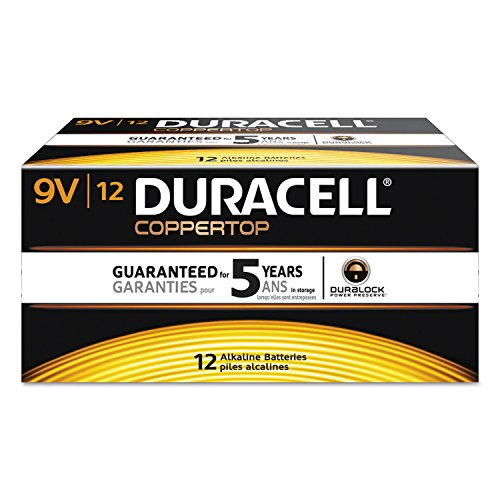 Coppertop Alkaline Batteries, 9v, 72/ct by Duracell