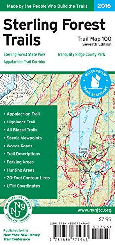 Sterling Forest Trails Map: Sterling Forest State Park, Appalachian Trail Corridor, Tranquility Ridge County Park
