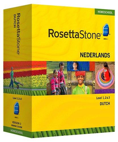 Rosetta Stone Homeschool Dutch Level 1-3 Set including Audio Companion
