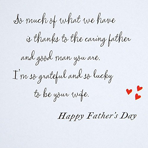Hallmark Father's Day Greeting Card for Husband (Grateful and Lucky to be Your Wife) Photo #6