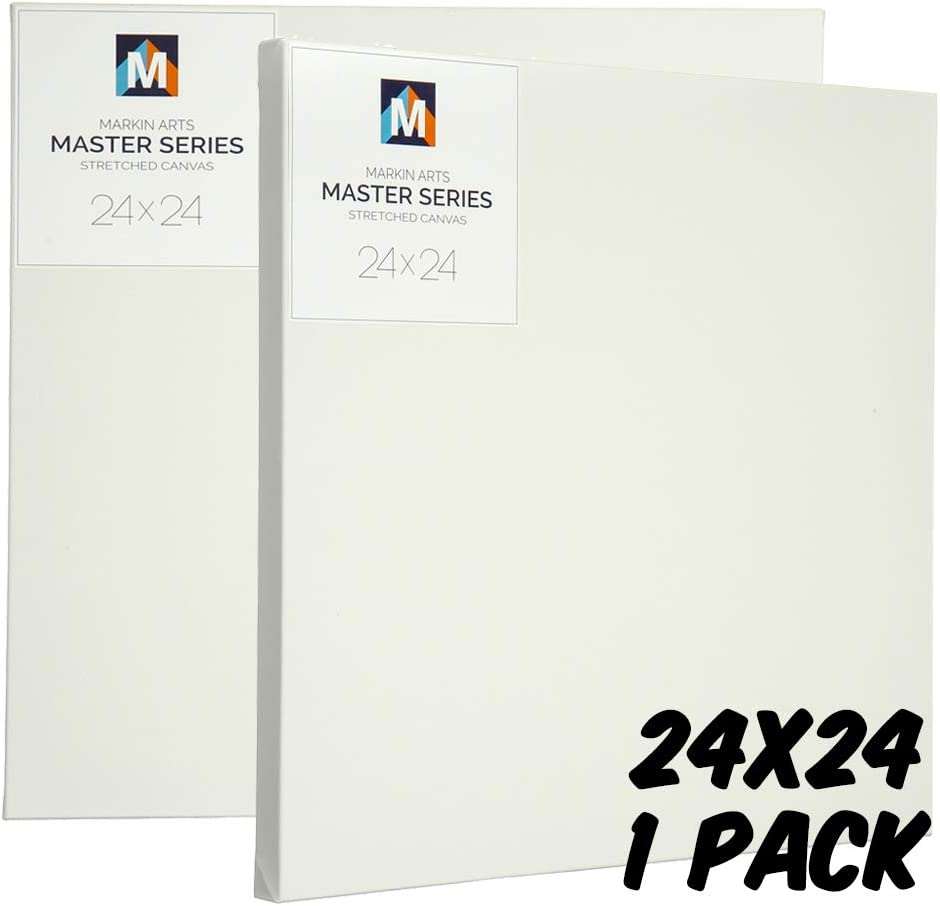 Markin Arts Master 1.5 Profile Swedish Solid Wood Acid//Discoloration Free 100/% Grade A 15oz Heavy Weight Cotton Titanium Acrylic Gesso Primed Professional Artist Art Stretched Canvas 9x12 1-Pack