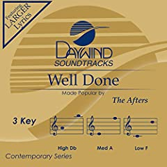 Accompaniment Track Made Popular by: The Afters With and Without Background Vocals High Key: Db Medium Key: A Low Key: F