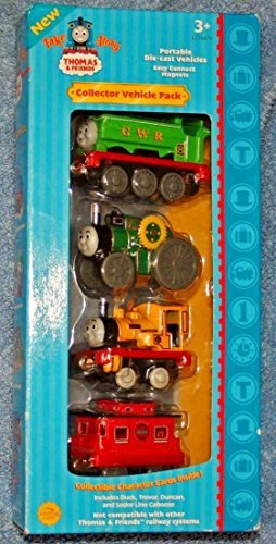 (Take Along Thomas Collector Vehicle Pack - Duck, Trevor, Duncan, Caboose)