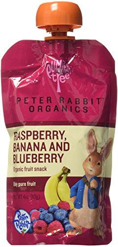 Peter Rabbit Organics Fruits - Raspberry Blueberry & Banana - 4 oz - 10 pk