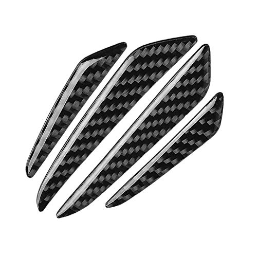 4X Universal Soft Carbon Fiber Auto Vehicel Door Panel Guards Sticker Decal Armors Epoxy Surface Carbon Core Car Body Protection
