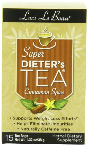 Box Super Dieters Tea - Laci Le Beau Super Dieter's Tea, Cinnamon Spice, 15 Count Box (Pack of 6)