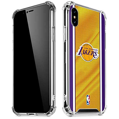 Skinit Los Angeles Lakers Home Jersey iPhone XR Clear Case - Officially Licensed NBA Phone Case Clear - Transparent iPhone XR Cover ()