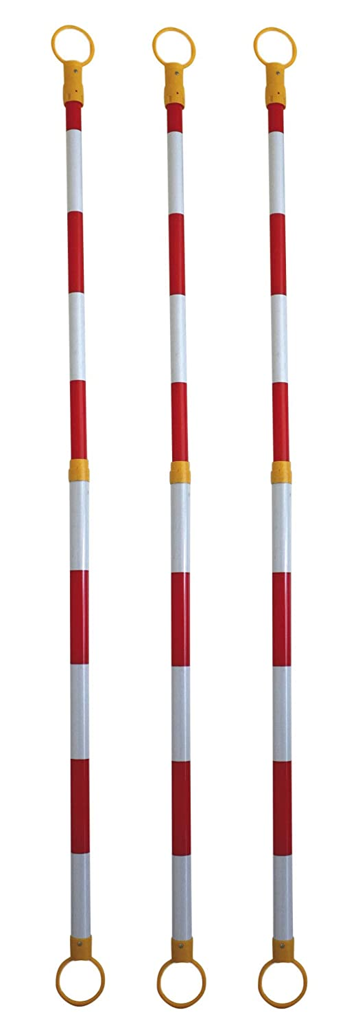 Set of 3 Red - White Extendable Cone Clips Extendable Cone Hook for Easy Transport and Storage due to its low weight