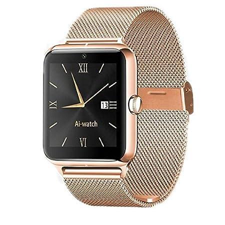 DROMATEC® Fashion-S, Oro smartwatch compatible con Android y ...