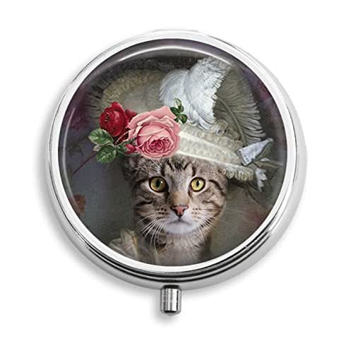 Amazon Small Decorative Boxes: Amazon.com: Dressed Up Cat In Fancy Hat Pill Box Pill