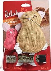 Petlinks Knit Nipper Refillable Catnip Cat Toy, Cat & Mouse
