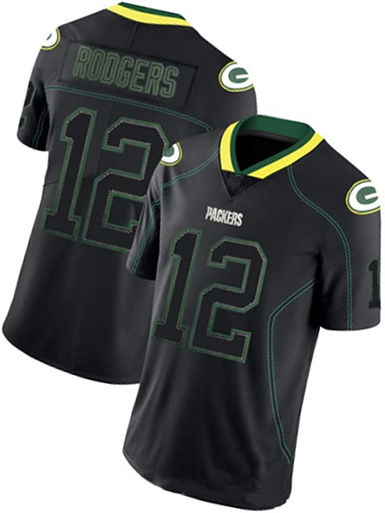 Aaron Rodgers Rugby Jersey 12 # Green Bay Packers Rugby ...