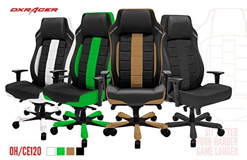 51xCGl7nkkL - DXRacer OH/CE120 Racing Bucket Seat Office Chair Gaming Ergonomic with Lumbar Support