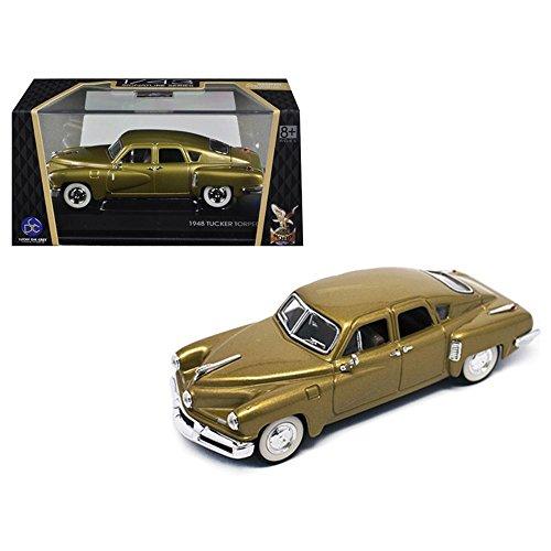 (Road Signature 43201GLD 1948 Tucker Gold Signature Series 1/43 Diecast Model Car)