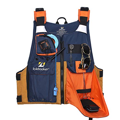 Kylebooker Adults Fishing Vest Kayak PFD Fishing Life Jacket