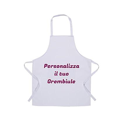 GREMBIULE DA CUCINA BIANCO PERSONALIZZATO CON TESTO E IMMAGINI ... 223c720d2258