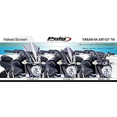 Puig 7015F Dark Smoke New Gen Sport Shield (Yamaha Fz-07 14'-17'): Automotive