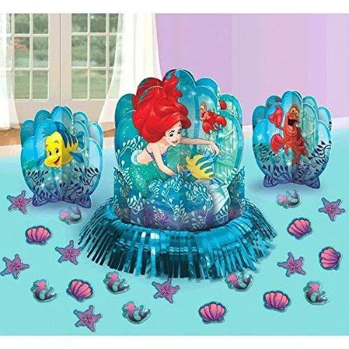 Disney Little Mermaid Princess Ariel Dream Big Party Table Decorations Kit ( Centerpiece Kit ) 23 PCS - Kids Birthday and Party Supplies Decoration ()