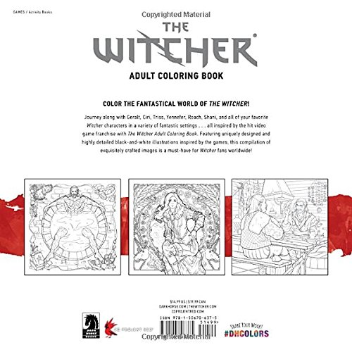 The Witcher Adult Coloring Book: Amazon.de: CD Projekt Red ...