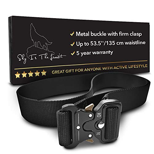 SKYISTHELIMIT Relentless Heavy Duty Tactical Belt | Quick Release Metal Buckle