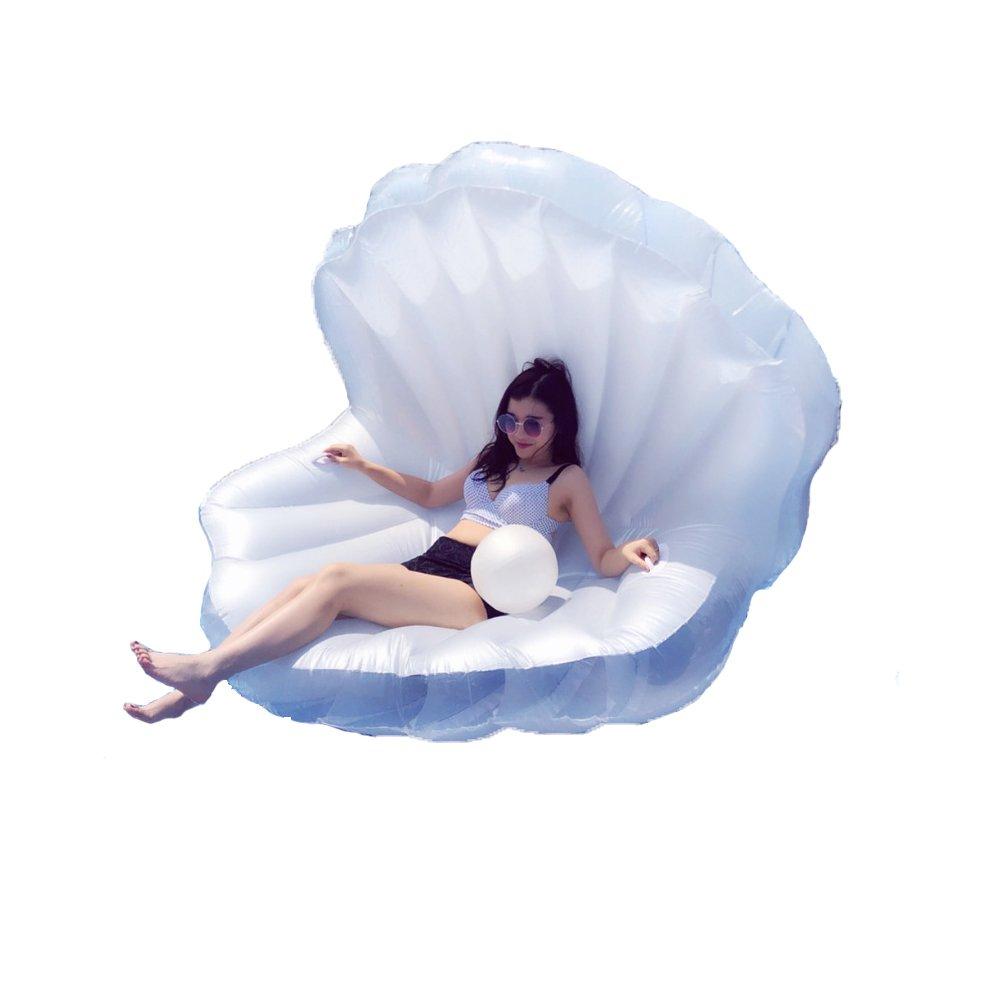 0℃ Outdoor Riesiges Aufblasbares Shell-Perlen-Swimmingpool-Floss-Floss, Große Party-Floatie-Fahrt Im Freien auf Aufenthaltsraum-Spielzeug Für Erwachsen-Kinder