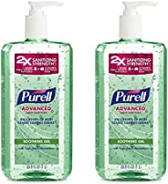 Purell - 3081-02-ECIN PURELL Advanced Hand Sanitizer Soothing Gel, Fresh scent, with Aloe and Vitamin E - 1 Li