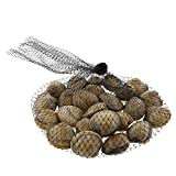"""Royal Black Plastic Mesh Produce and Seafood, 24"""", Package of 100"""