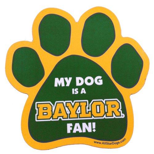 - NCAA Baylor Bears Paw Print Car Magnet