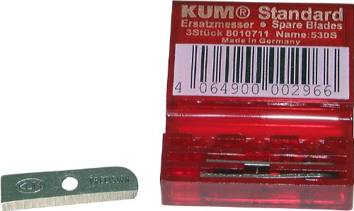 Kum 801.07.11 Tempered Steel Standard Size Spare Blades for Pencil Sharpeners