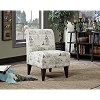 Elements North Accent Slipper Chair in Paris Script
