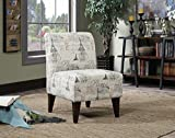 Picket House Furnishings Elements North Accent Slipper Chair in Paris Script