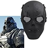 Black Army Skull Skeleton Airsoft Paintball Bb Gun Game Face Mask