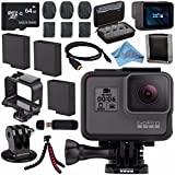 GoPro HERO6 Black CHDHX-601 + 64GB microSDXC + Battery For Gopro Hero + Micro HDMI Cable + Case for GoPro HERO4 and GoPro Accessories + Card Reader + Memory Card Wallet + Flexible Tripod Bundle