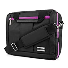 """El Prado Collection 3 in 1 Backpack and Messenger Bag for Lenovo Miix / Tab 2 A10 / Yoga / ThinkPad / Helix 10.1 to 11.6"""" Tablets (Purple)"""