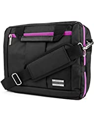 El Prado 3 in 1 Carry-On CrossBody Bag, Backpack and Briefcase - Purple Trim [LRG] For 14 to 15.6 inch Laptop...