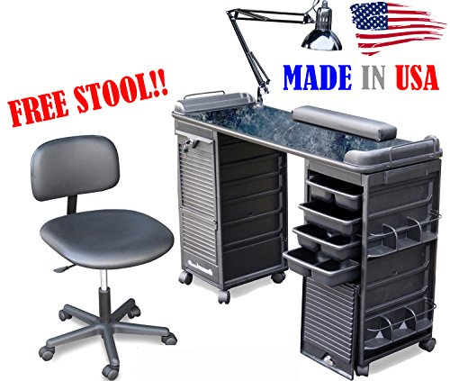 MANICURE TABLE SET WITH FREE STOOL B606-920 BM made in USA by Dina Meri by Dina Meri