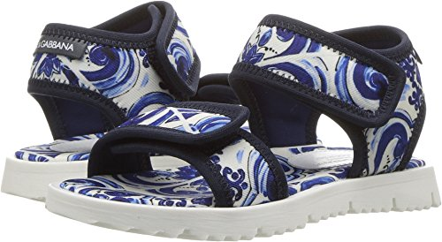 Dolce & Gabbana Kids Unisex Capri Flip-Flop (Toddler/Little Kid) Blue Sandal by Dolce & Gabbana