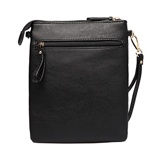 Shoulder Women Pouch Girls Miss Lulu Crossbody 1417 Bag for Fashion Leisure Black qwxxIfnTaR