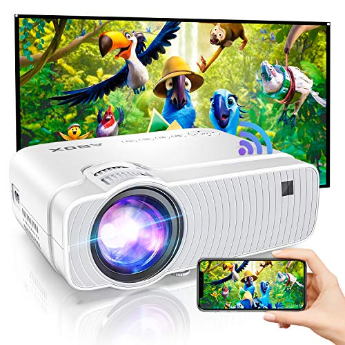 "Bomaker HD WiFi Projector, 1080P and 250"" Display Support, 120 ANSI Lumen Movie Projector Portable for Home Entertainment, Compatible with iPhone, TV Stick, PS4,DVD Players, Android, Windows"