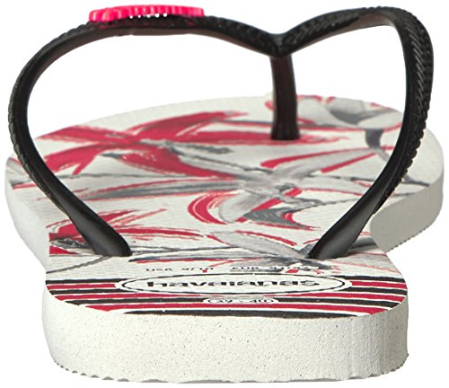 Slim Havaianas Tropical black White Donna Infradito 0wEwTP